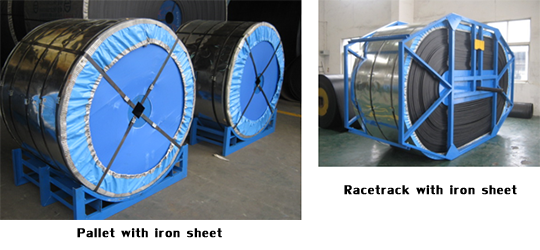 Pallet with iron sheet, Racetrack with iron sheet