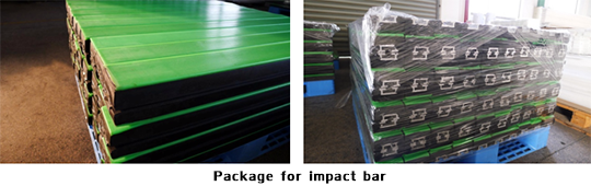 Package for impact bar